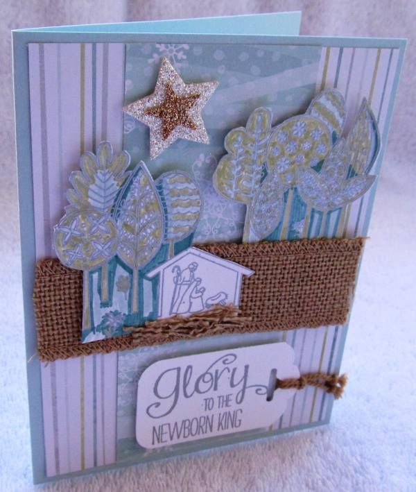 The Newborn King by my friend Zoe Williams, creativeleeyours, Stampin' Up!, Christmas Card