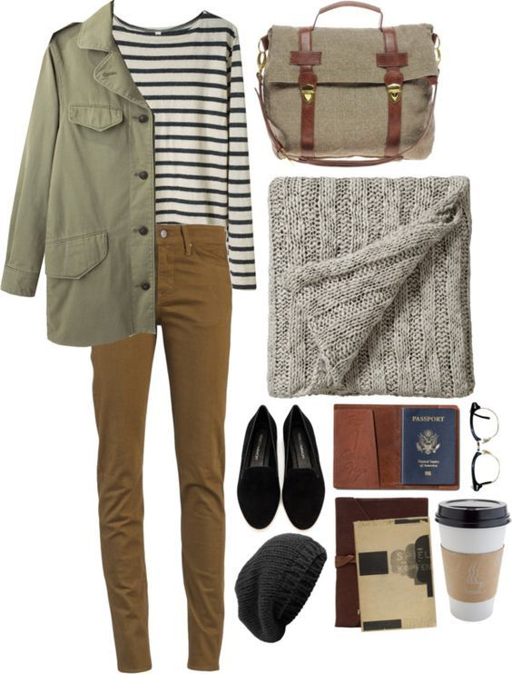 #fall #outfits / Stripes + Brown Jeans