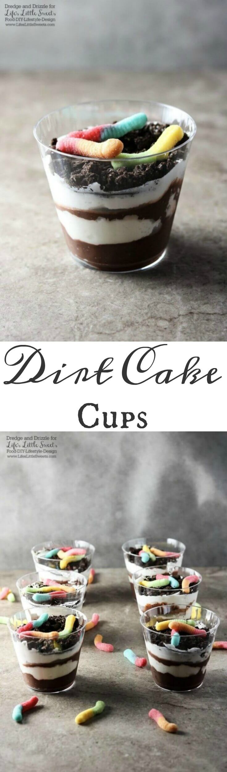 Many of us have been told to not eat dirt. There are always exceptions and these Dirt Cake Cups are a fun way to break the rules. Perfect for a family-friendly get together or child's birthday party!  (Halloween Sweet Recipes)