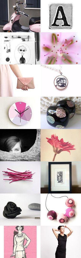 Pink Liquorice Allsorts by BeLuli Designer on Etsy--Pinned+with+TreasuryPin.com