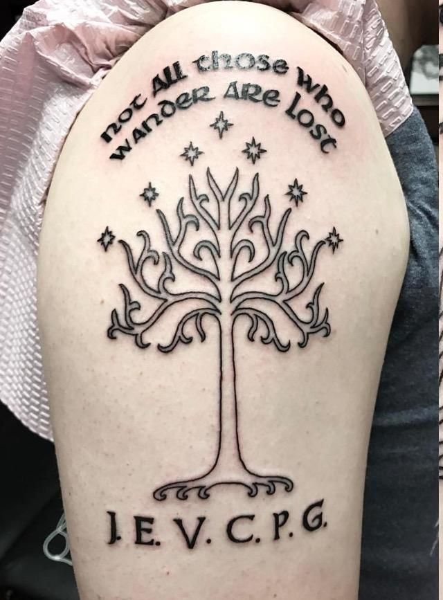 My 1st tattoo! The Tree of Gondor from LOTR. Great work by Lea Ligot at Classic Tattoo in Las Vegas.