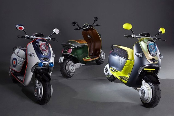 MINI has unveiled retro-futuristic conceptual model of electric-powered scooter called MINI E Scooter. #mini #scooter #electric