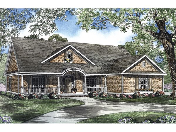 The Mayberry Southern Country Home has 4 bedrooms and 3 full baths. See amenities for Plan 055D-0550.