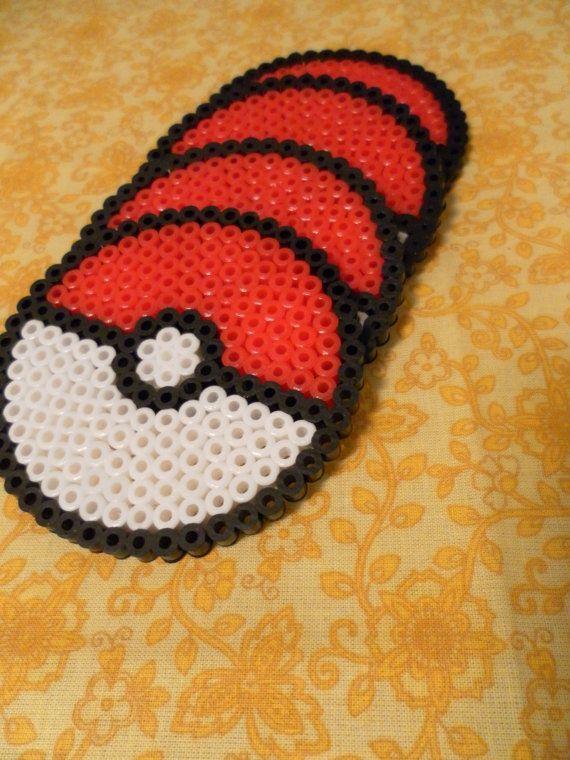 Pokemon Pokeball Untersetzer aus Bügelperlen!