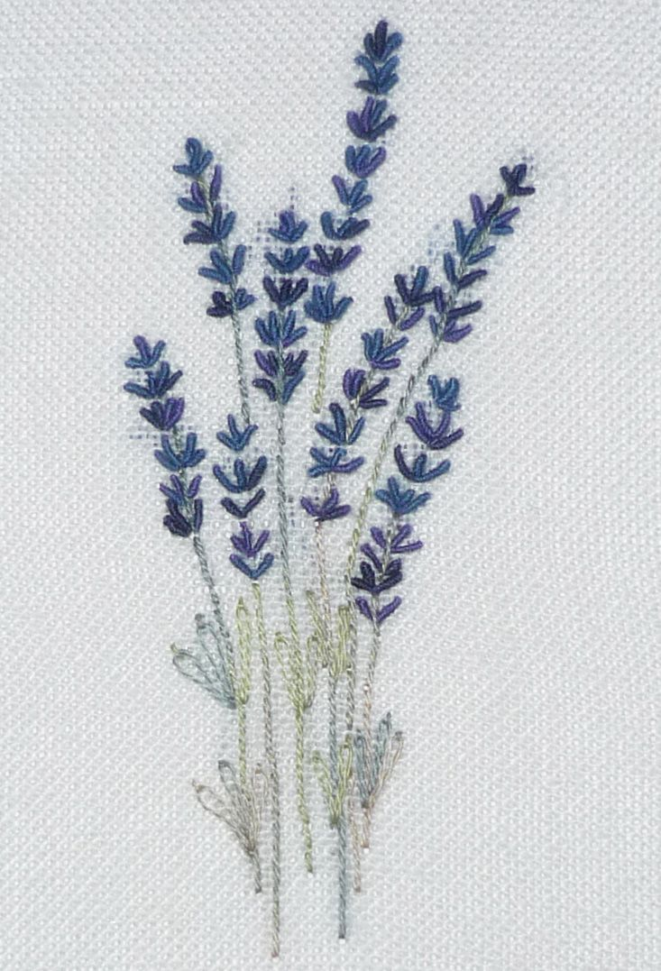 Lavender embroidery