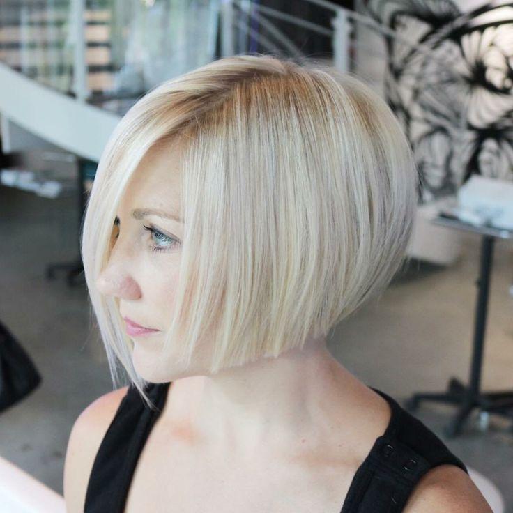 blonde haare seitenscheitel haarschnitte bob kurz #hairstyles