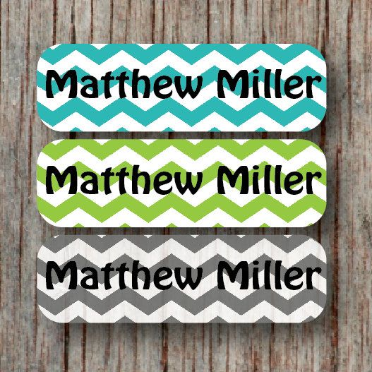 Personalized waterproof child name labels daycare stickers chevron dishwasher safe custom daily boy baby bottle sippy cup labels matthew