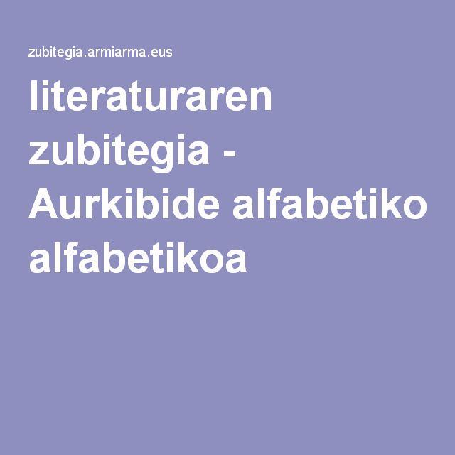 literaturaren zubitegia - Aurkibide alfabetikoa