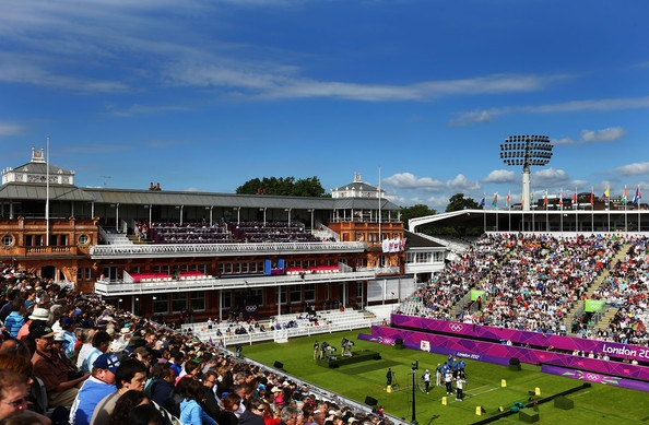 A general view of the Men's Team Eliminations match between Italy and Chinese Taipei on Day 1 of the London 2012 Olympic Games at Lord's Cricket Ground on July 28, 2012 in London, England.