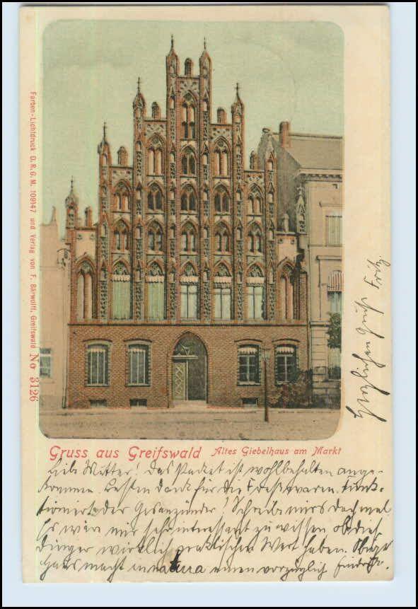 W7A86/ Greifswald Gruß aus Greifswald 1901 AK (b)   eBay