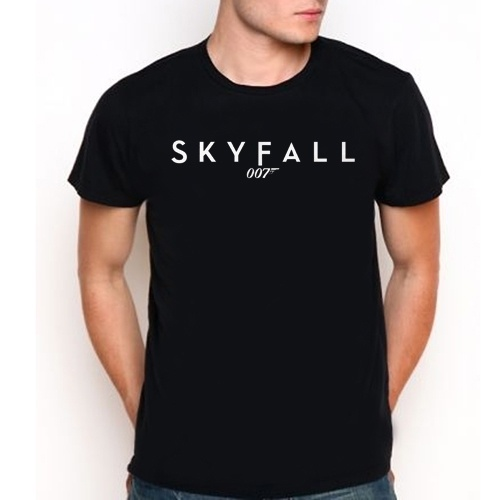 007 James Bond skyfall Custom Black T-Shirt Tee All Size XS-XXL