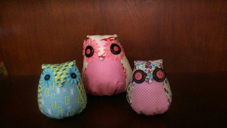 My home, hand made owls