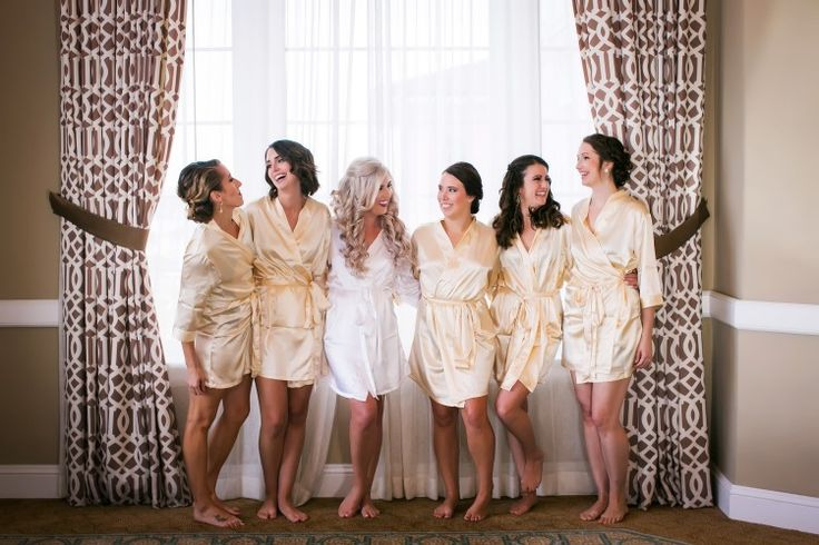 Adorable bridesmaid photo with matching robes (Limelight Photography)