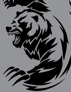 tribal bear    TRIBAL VECTOR ANIMALS CLIP ART