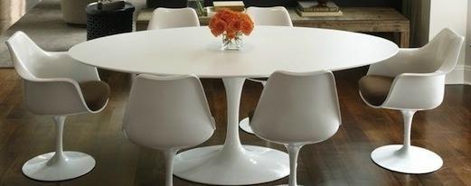 Ovale Saarinen Tulip vergader tafel 198x120cm