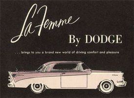 The Dodge La Femme (1950s) (click thru for more)Carse Toys, Classic Cars, Vintage Cars, Femme 1950S, 1950 S Chrysler, Femme Dodge, Vintage Ads, Dodge La, Man Cars