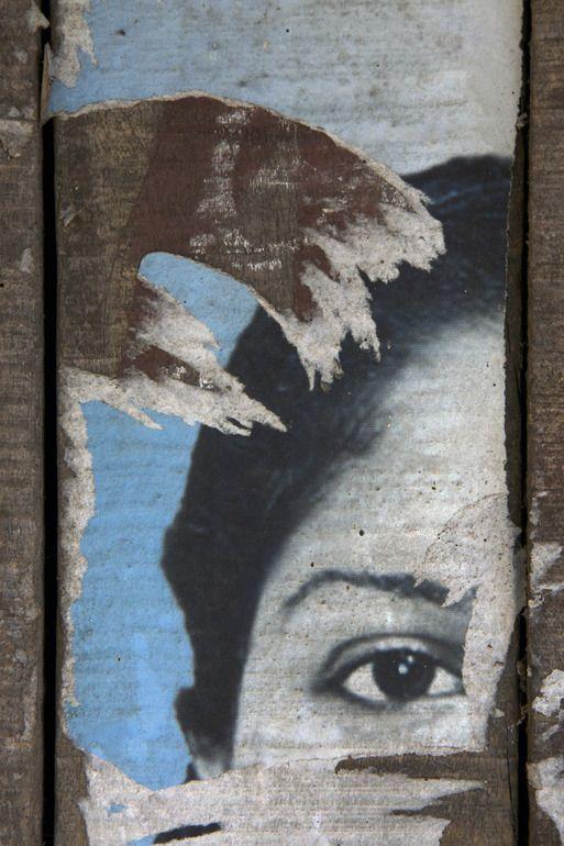 "Saatchi Online Artist: Ian Hoskin; Digital, 2013, Photography ""Face_3571.jpg From the series Defaced"""