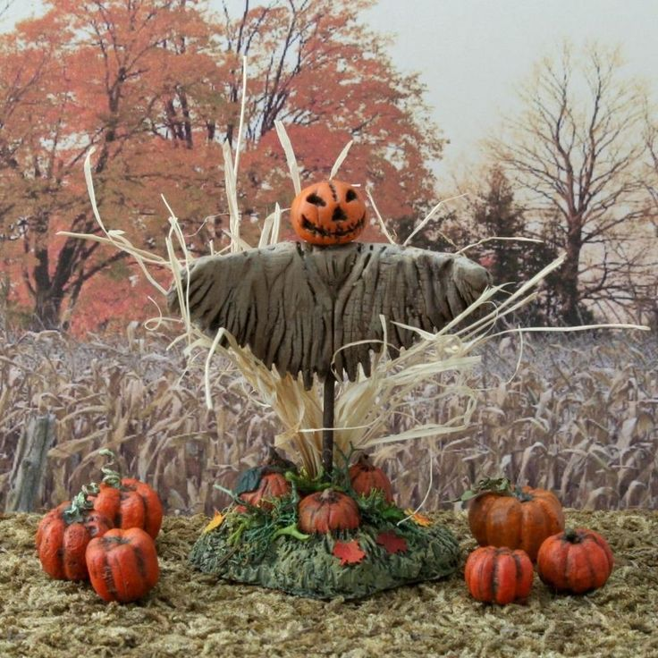 new scarecrow for spooky town miniature halloween village for dept 56