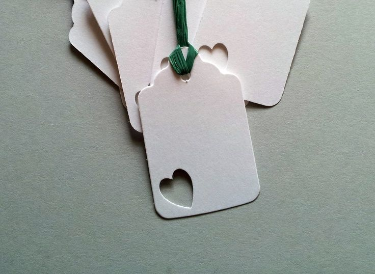 Simple punched heart tag