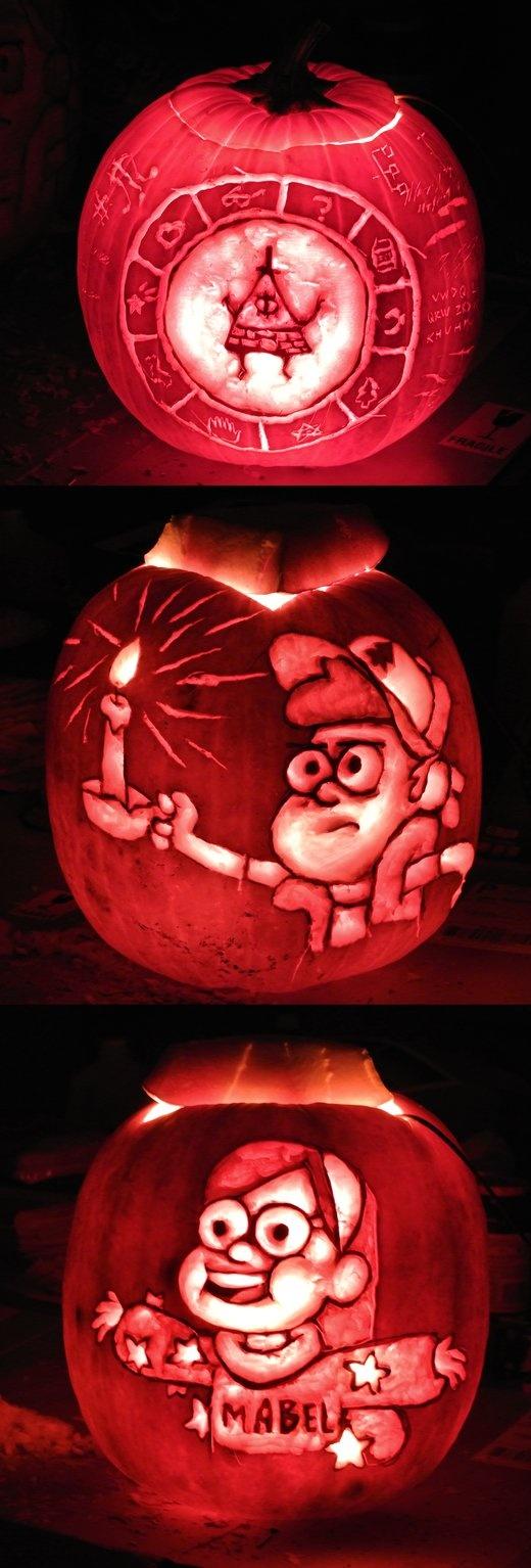 Gravity Falls Pumpkins by *sharpie91 on deviantART