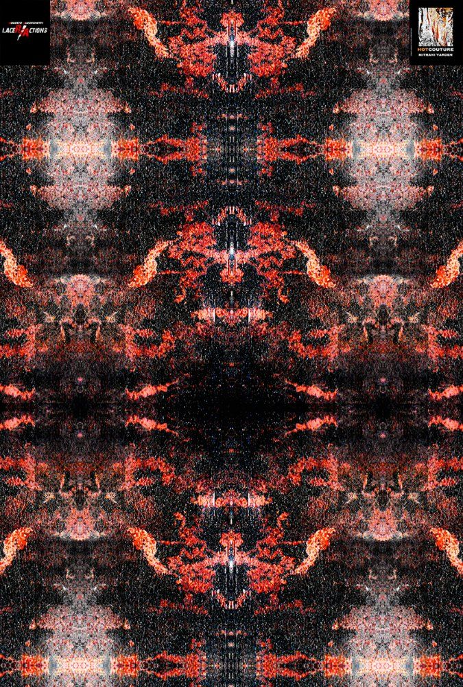 THE VOLCANO DRESS: SPECIAL PREVIEW OF THE FABRIC PRINT OF AN HOTCOUTURE CREATION