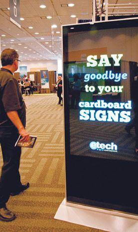 PowerSlide allows planners to customize digital signage products using Powerpoint. | BizBash Event Ideas (http://www.bizbash.com) | Pinterest | Digital signage…