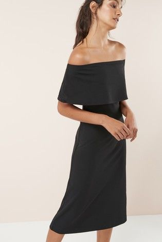 5786af1529d8 Black Bardot Dress   Clothes in 2019   Dresses, Party dresses for ...