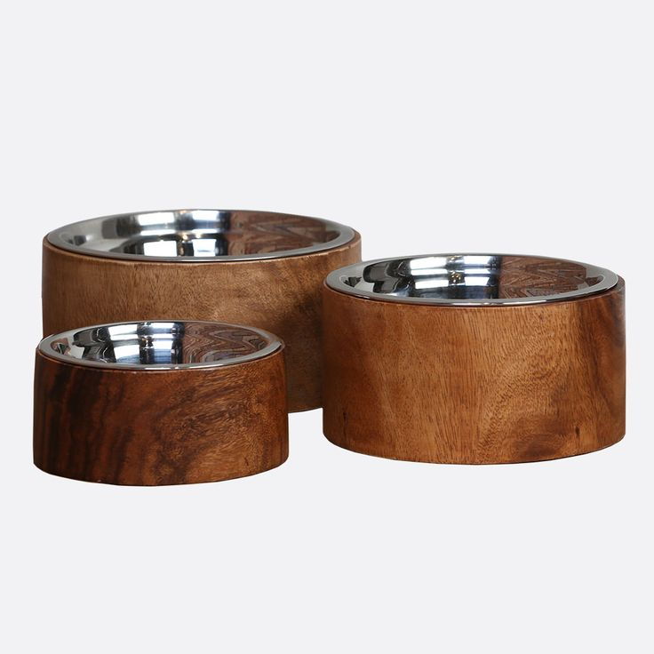 Wooden Dog Bowls | Online Pet Boutique | Anderson Collection | Unleashed Life