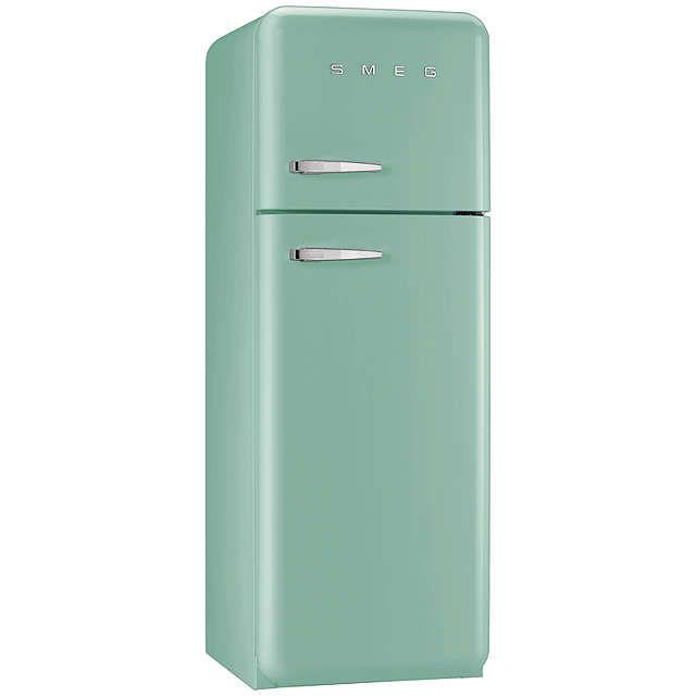 BuySmeg FAB30RFG Fridge Freezer, A++ Energy Rating, 60cm Wide, Right-Hand Hinge, Pastel Green Online at johnlewis.com