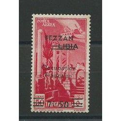 1943 FEZZAN POSTA AEREA DI LIBIA SOPRASTAMPATA 1 VALORE MNH CAFFAZ MF21869