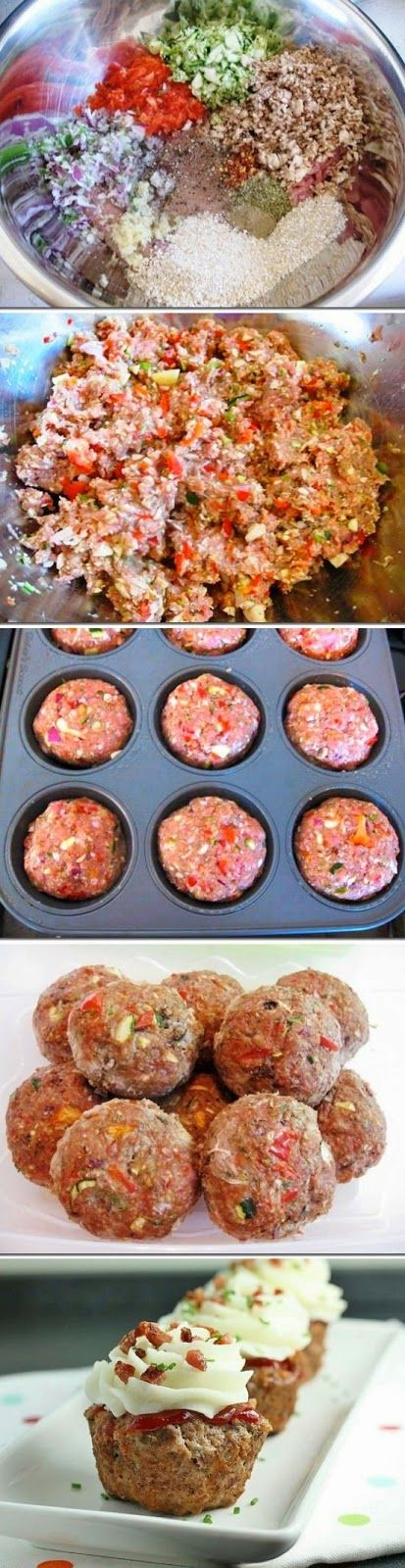 Meatloaf Cupcakes-replace breadcrumbs with Shake n Bake for low carb option