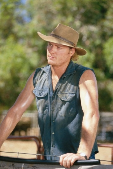 Myles Pollard - Nick Ryan on McLeods Daughters. Great tv, show. hat, arms, macho, gorgeous, photo