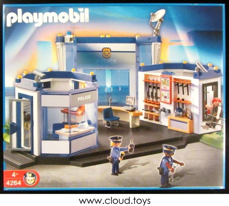Discontinued Playmobil 4264 Police Station Headquarters with Jail NEW MISB