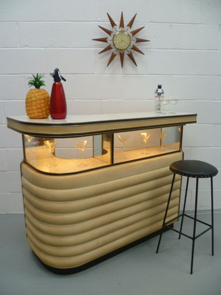 Mid-Century Home Bar, maker unknown