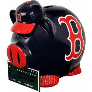 Forever Collectibles MLB Large Piggy Bank, Boston Red Sox