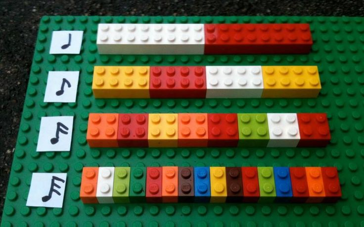 Learning music timing with Lego