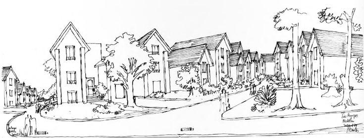 Clásicos de Arquitectura : Agrupación de vivienda Las Brujas,Boceto . Image vía Germán Samper Arquitecto