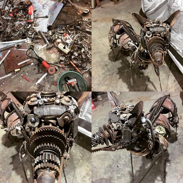Dog - metal sculpture