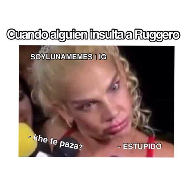 #no insulten a Ruggero