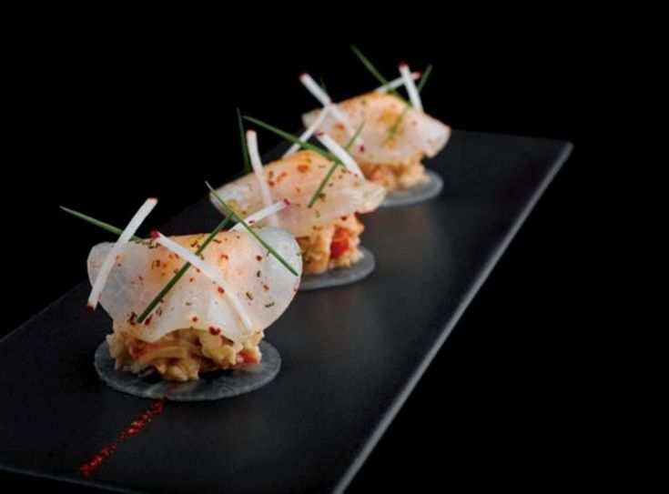 Dressed crab meat with crunchy radish recipe by professional chef Xavier Boyer