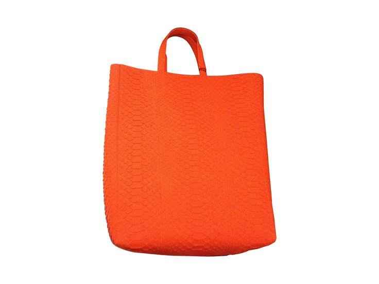 Borsa XL in pelle CÉLINE arancione