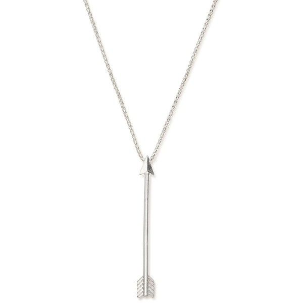 """Alex and Ani Arrow Necklace, 32"""" ($74) ❤ liked on Polyvore featuring jewelry, necklaces, silver, alex and ani necklaces, silver jewelry, alex and ani, alex and ani jewelry and silver jewellery"""