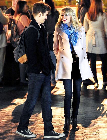 Andrew Garfield and Emma Stone shot scenes for Spiderman II in NYC