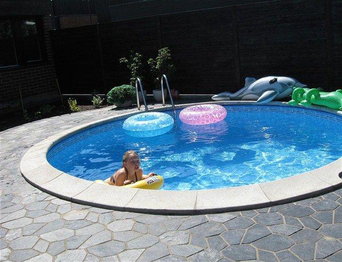 Markskiffer perfekt vid poolen som poolsten. #pool