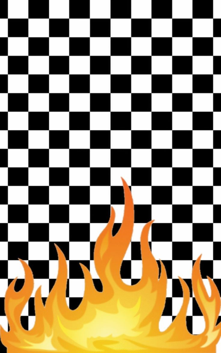 Flame checkboard wallpaper   Phone wallpaper design, Pop ...