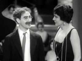 Groucho Marx and Margaret Dumont http://marx-brothers-groucho-chico-harpo-zeppo.info/margaret-dumont-biography/