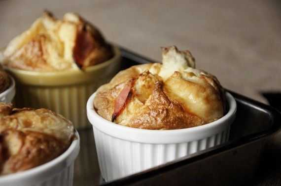 Ham Cheese Souffle, french cheese souffle, great yummy homemade!