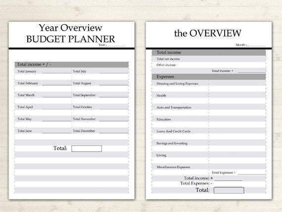 Budget Planner afdrukbare A4 Financieel Planner door DoortjeDesign