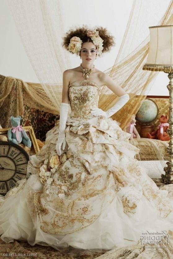 List 14 Stella de Libero White-Gold Wedding Dresses – Top Famous Fashion Designer - Easy Idea (2)