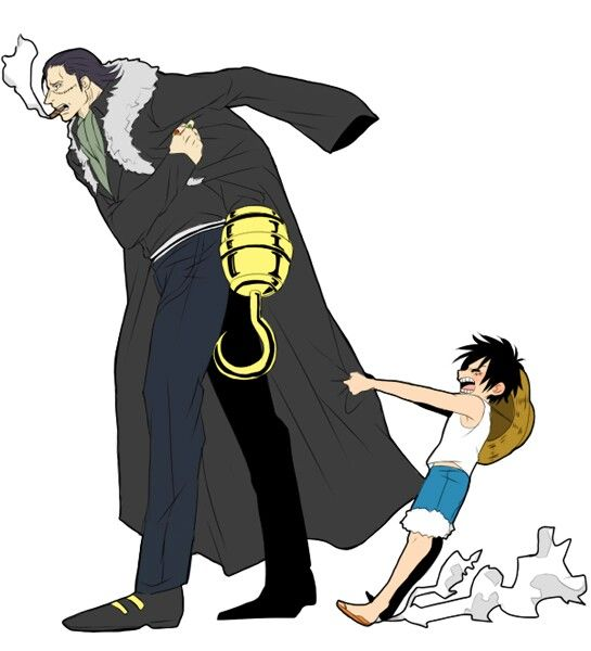 Crocodile and Luffy One Piece